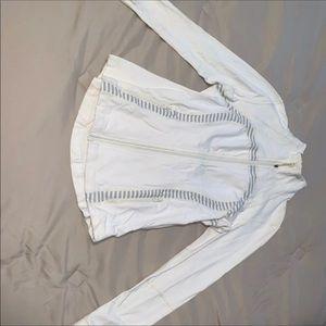 Lululemon White & Navy Blue Define Jacket